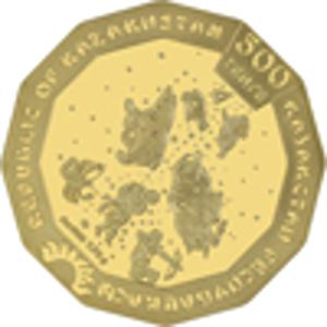 Coin 500 Tenge (Year of the Mouse; Gold) Kazakhstan obverse