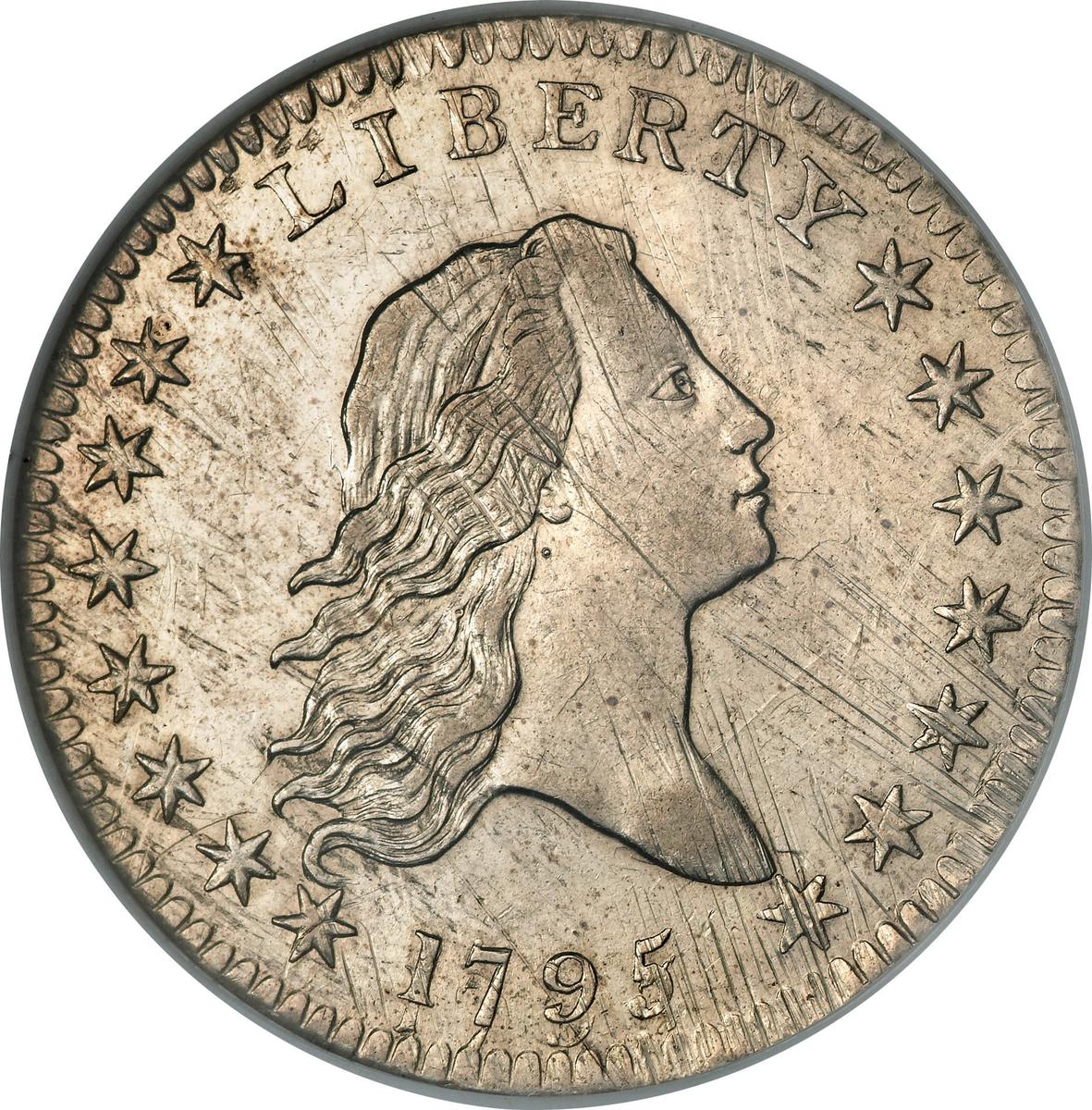 "Coin ½ Dollar ""Flowing Hair Half Dollar"" (small eagle) United States of America obverse"