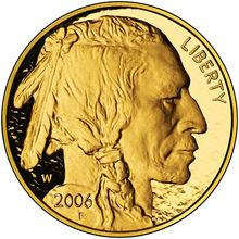 """Coin 50 Dollars """"American Buffalo"""" (Gold Bullion Coinage) United States of America obverse"""