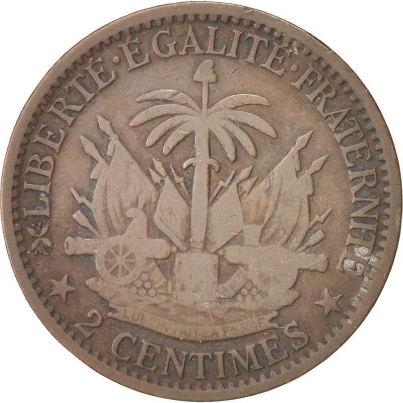 Coin 2 Centimes Haiti reverse