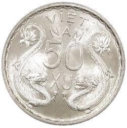 Coin 50 Xu - Bảo Đại Viet Nam reverse