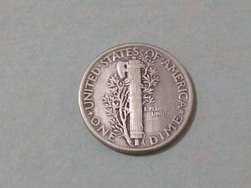 "Coin 1 Dime ""Mercury Dime"" United States of America reverse"
