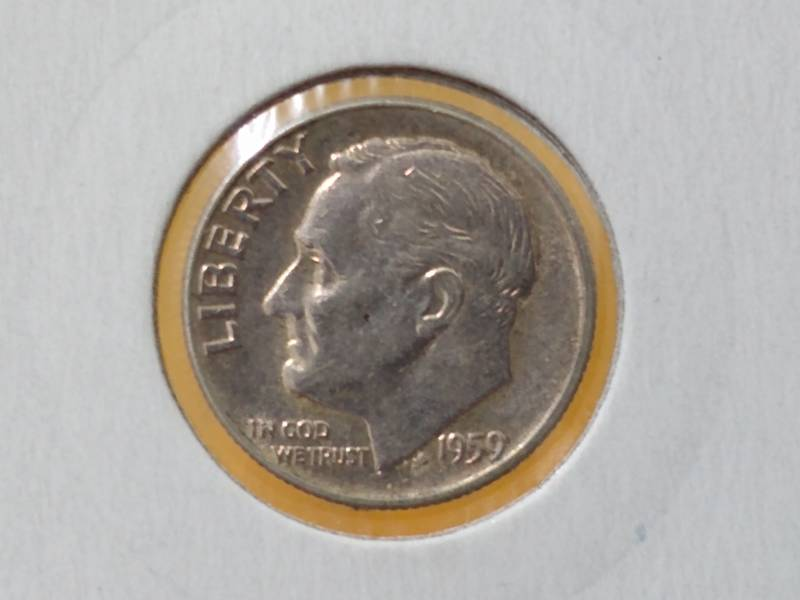 """Coin 1 Dime """"Roosevelt Silver Dime"""" United States of America obverse"""