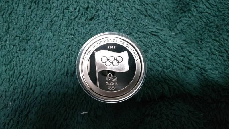 Coin 5 Reais (Olympic Flag Handover) Brazil obverse