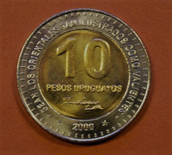Coin Set de 8 moedas de pesos Uruguaio. Uruguay reverse
