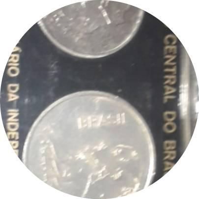 Coin 20 Cruzeiros (150th Anniversary of Independence) NO ESTOJO Brazil reverse