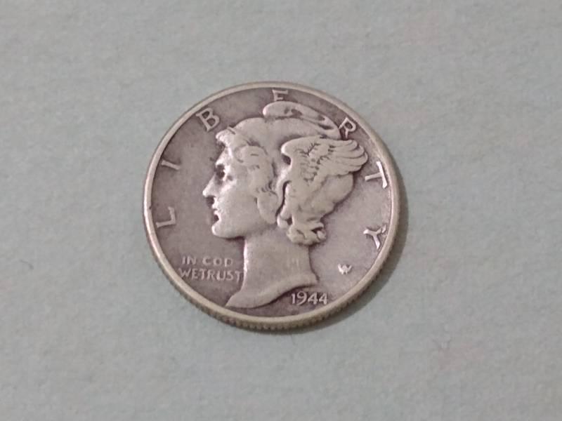 "Coin 1 Dime ""Mercury Dime"" United States of America obverse"