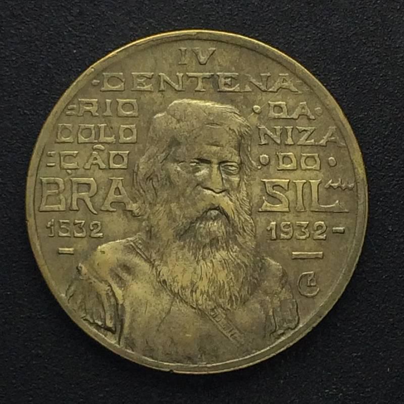 Coin 500 réis de 1932 (Coletinho) (Série Vicentina) Brazil reverse