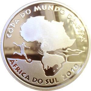 Coin P745 Moeda Brasil 5 Reais 2010 Copa do Mundo - Africa Do Sul (South Africa World Cup) Brazil obverse