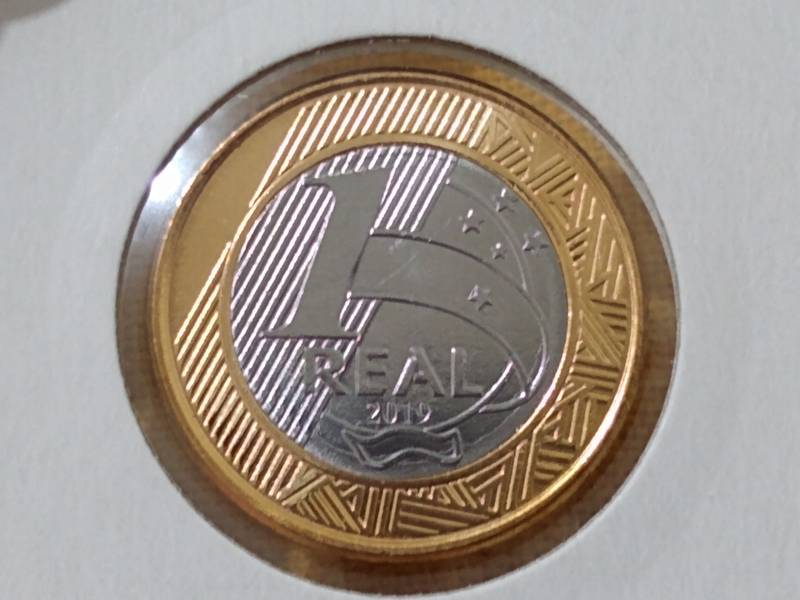 Coin 1 Real  - Vinte e Cinco anos do Real -  25 Years of Real Brazil reverse