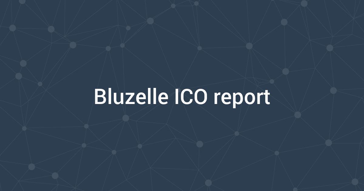 Bluzelle ICO report