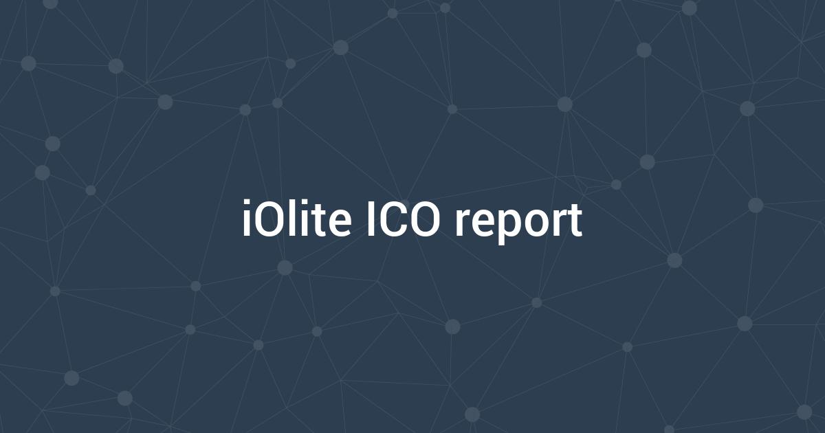 iOlite ICO report