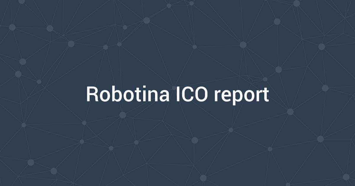 Robotina ICO report