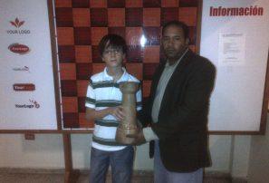 Alejandro Nieto, campeón infantil ajedrez