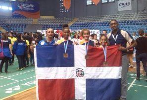 RD con tres bronce en Panam Badminton