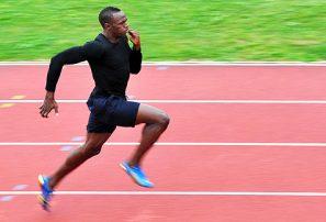 Bolt ganó sin marcar un gran tiempo en Roma