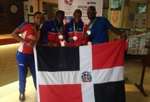 Relevo 4×100 masculino logra plata en Centroamericanos
