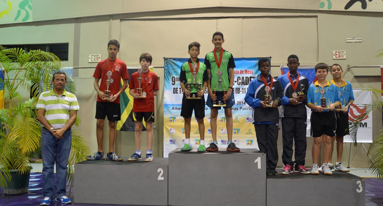 Pre infantiles ganan tres medallas campeonato tenis mesa