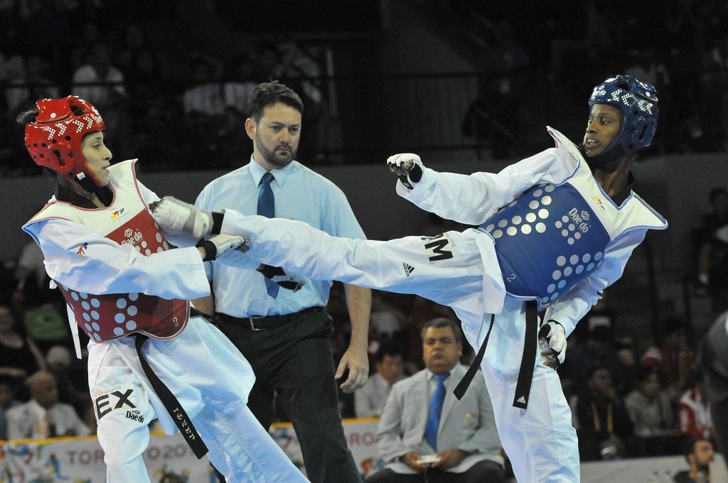 Candelaria Marte, medalla de bronce en taekwando