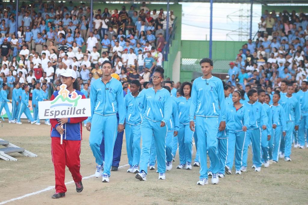 Provincia Espaillat se luce en apertura Juegos Escolares