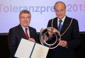 El COI recibió el Premio de la Tolerancia 2015
