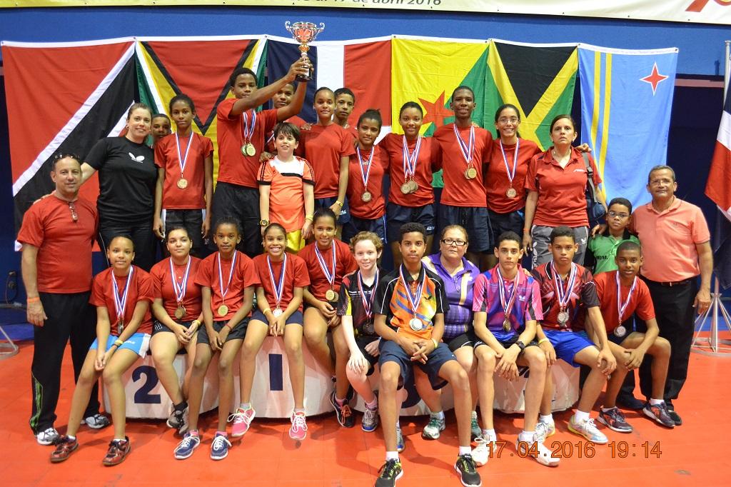 RD gana corona del Caribe de tenis mesa infantil y juvenil
