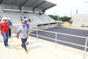 Construcción del Parque de Raquetas avanza en un 70%