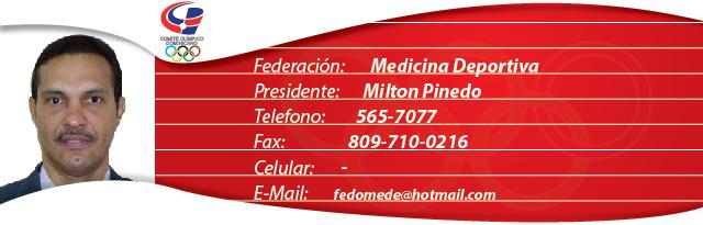 Milton Pinedo - Medicina Deportiva