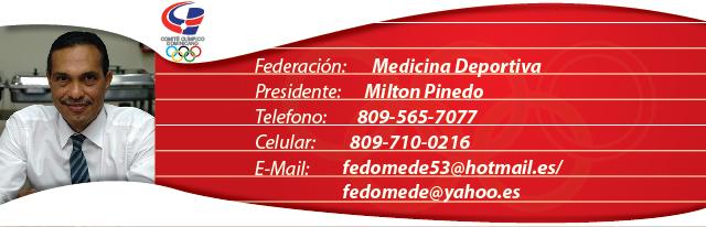 Milton Pinedo, presidente federación dominicana de medicina deportiva