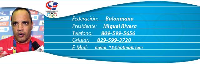 Miguel Rivera, Presidente Federación Dominicana de Balonmano