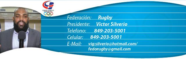 Viector Silverio, presidente de la federación dominicana de Rugby