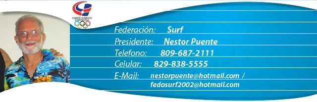 Nestor Puente, presidente federación dominicana de surf
