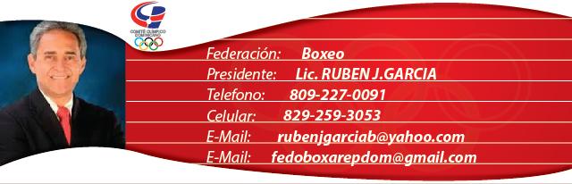Lic. Ruben Garcia, presidente federacion dominicana de boxeo