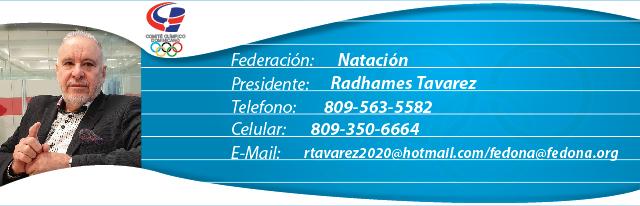 ´Radhames Tavarez, presidente federación dominicana de natación