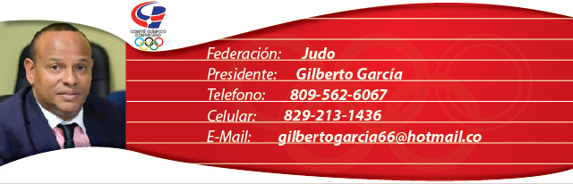 Gilberto García, presidente federación dominicana de judo