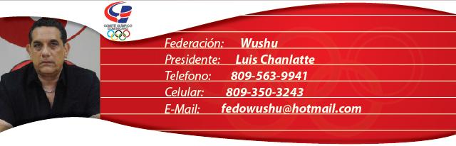 Luis Chanlatte, presidente federación dominicana de Wushu
