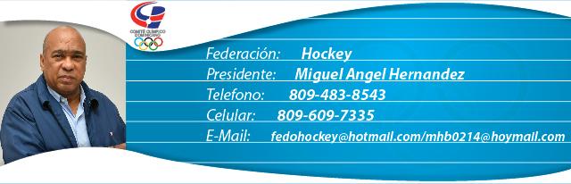 Miguel Angel Hernandez, presidente federación dominicana de hockey