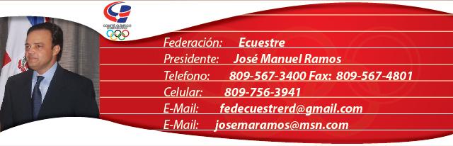 jose manuel ramos, presidente federación dominicana de ecuestre