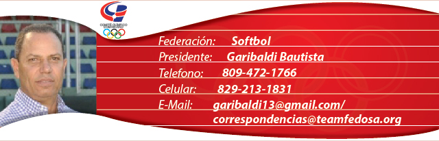 Garibaldi Bautista, presidente federación dominicana de softbol