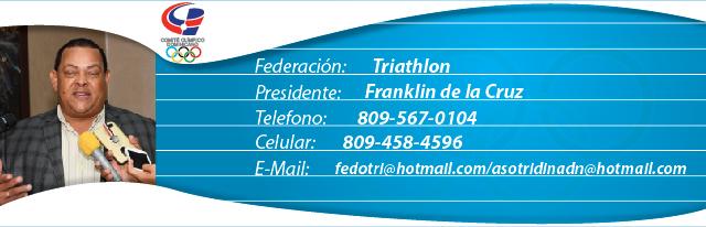 Franklin de la Cruz, presidente federación dominicana de triathlon