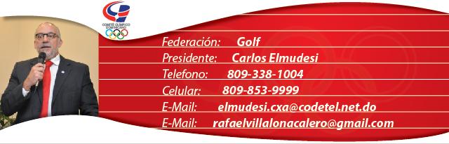 Carlos Elmudesi, presidente federación dominicana de golf