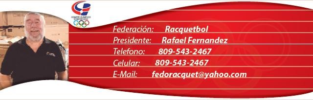 Rafael Fernandez, presidente federación dominicana de Racquetbol