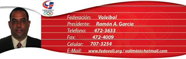 Ramon Alcides García, presidente federacion dominicana de Voleibol
