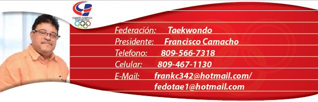 Francisco Camacho, presidente federación dominicana de Taekwondo
