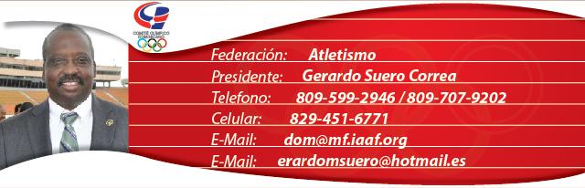 Gerardo Suero Correa, presidente federación dominicana de atletismo