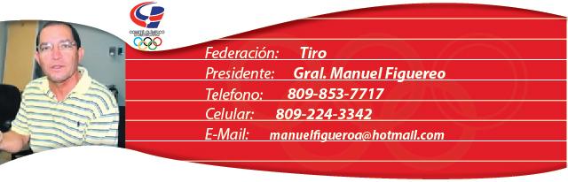 Gral. Manuel Figueroa, presidente federación dominicana de tiro
