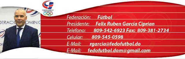 Felix Ruben García Ciprian, presidente federación dominicana de fútbol