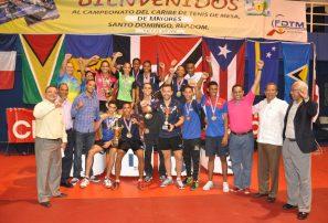 RD gana campeonato del Caribe de Tenis de Mesa