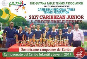 Selección RD, campeón del Caribe Infantil y Juvenil tenis de mesa