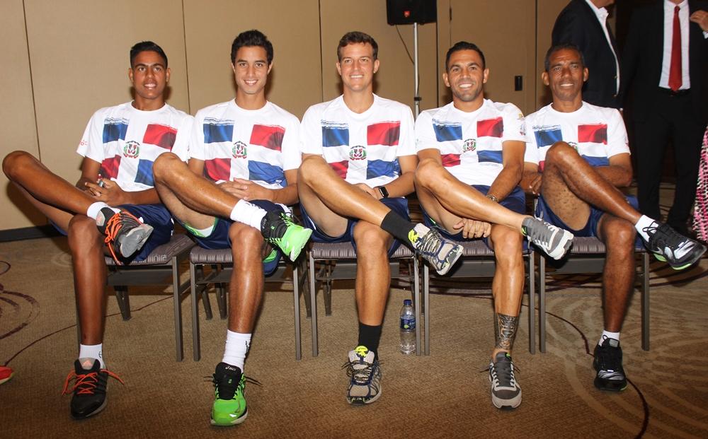 Equipo RD confiado para duelo Copa Davis ante Perú